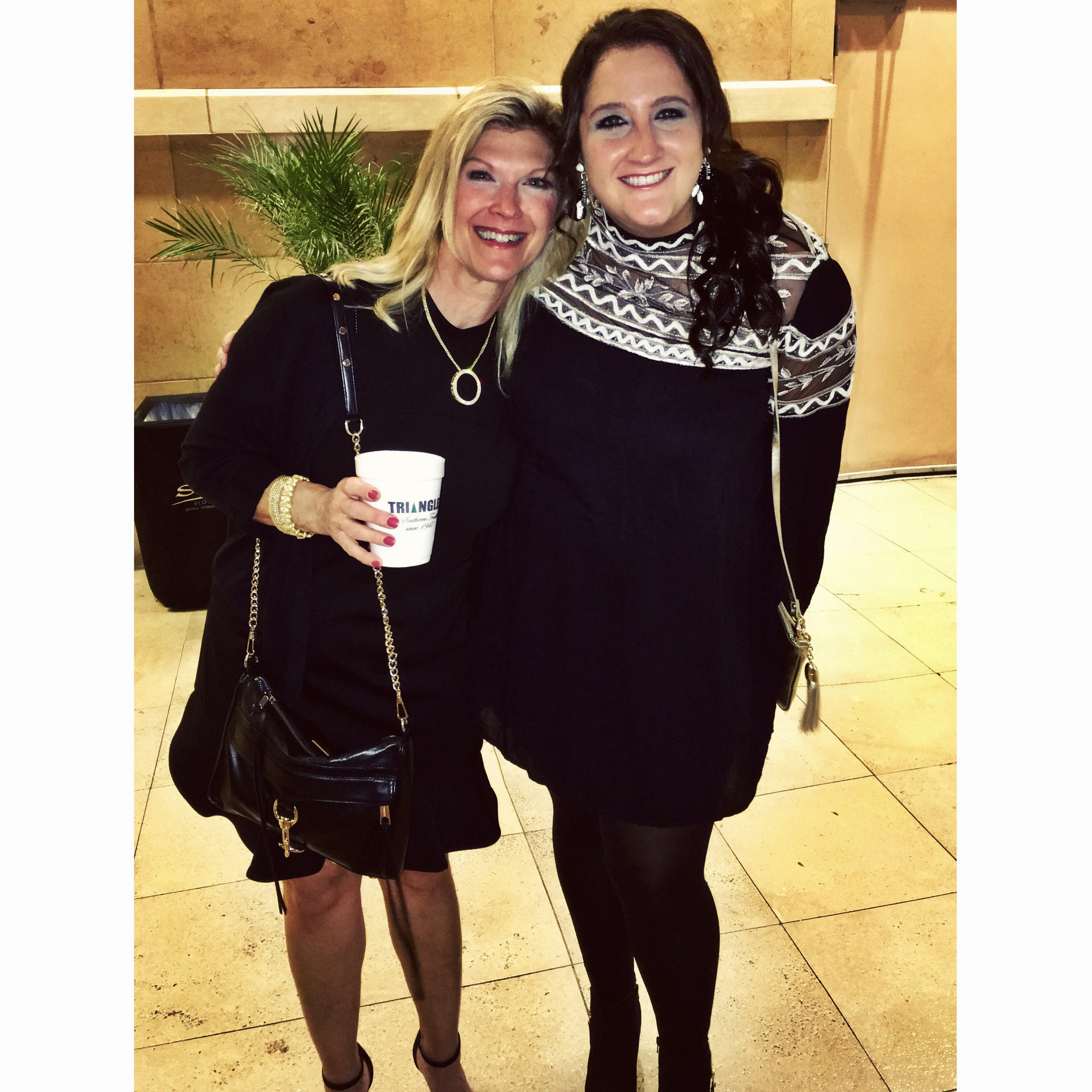 Mom and I before Elton.